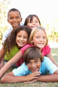 several kids